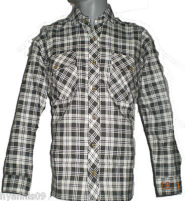 Work shirt mens 100 cotton lumberjack flannell checked for 100 cotton work shirts
